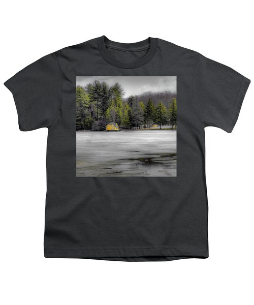 Youth T-Shirt featuring the photograph The Lighthouse On Frozen Pond by David Patterson