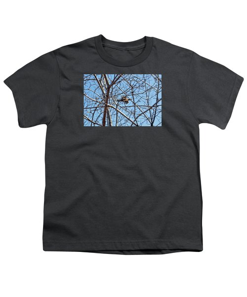 The Ruffed Grouse Flying Through Trees And Branches Youth T-Shirt by Asbed Iskedjian
