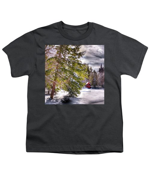 Youth T-Shirt featuring the photograph The Secluded Boathouse by David Patterson