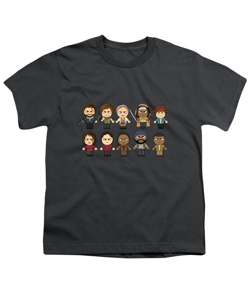 The Walking Dead - Main Characters Chibi - Amc Walking Dead - Manga Dead Youth T-Shirt