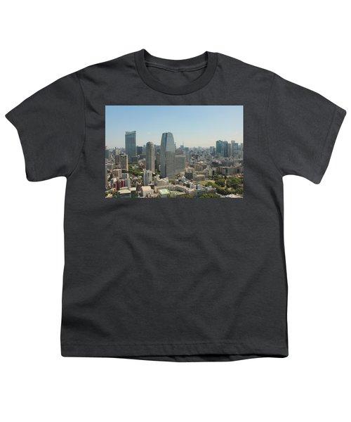 Tokyo Skyline Youth T-Shirt by Jacob Reyes