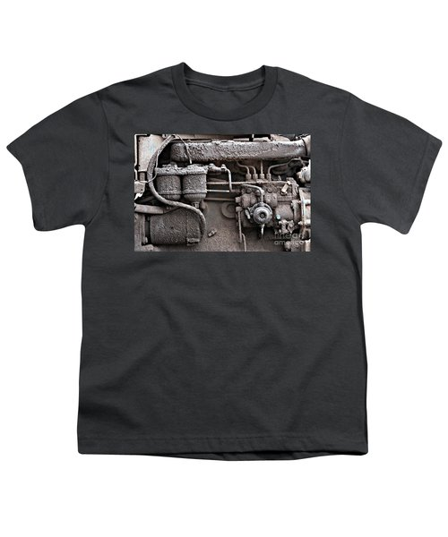 Youth T-Shirt featuring the photograph Tractor Engine II by Stephen Mitchell