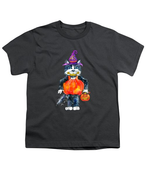 Trick Or Treat Youth T-Shirt by Shelley Wallace Ylst