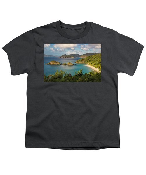 Youth T-Shirt featuring the photograph Trunk Bay Morning by Adam Romanowicz