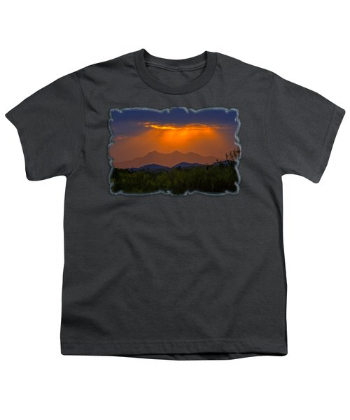 Tucson Mountains Sunset H29 Youth T-Shirt by Mark Myhaver