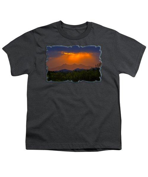 Tucson Mountains Sunset H29 Youth T-Shirt