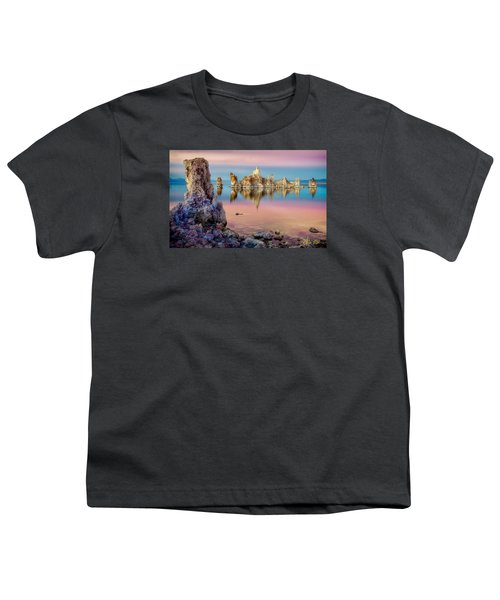 Youth T-Shirt featuring the photograph Tufas At Mono Lake by Rikk Flohr