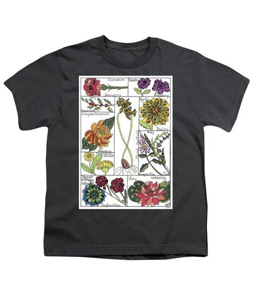 Twelve Month Flower Box Youth T-Shirt