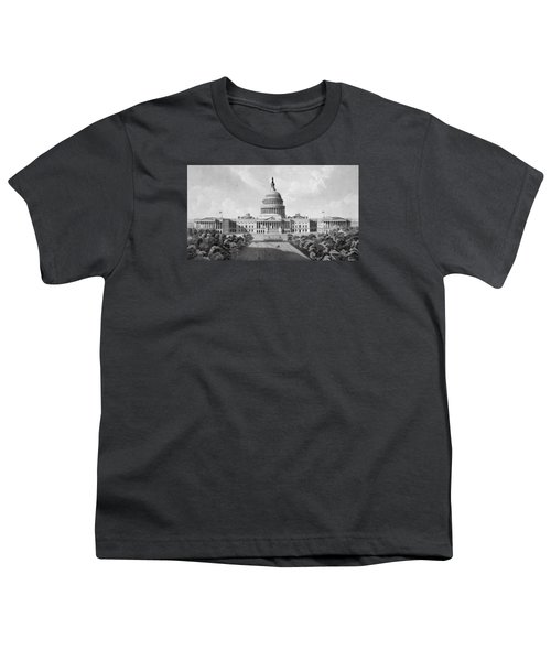 Us Capitol Building Youth T-Shirt by War Is Hell Store