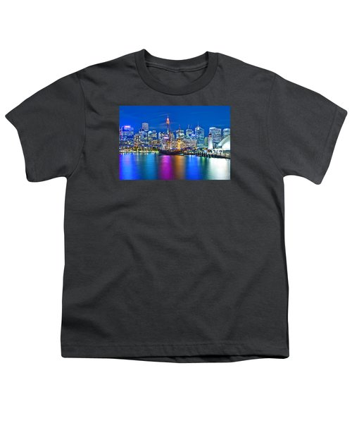 Vibrant Darling Harbour Youth T-Shirt by Az Jackson