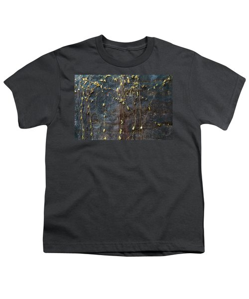 Youth T-Shirt featuring the photograph Vines On Rock, Bhimbetka, 2016 by Hitendra SINKAR