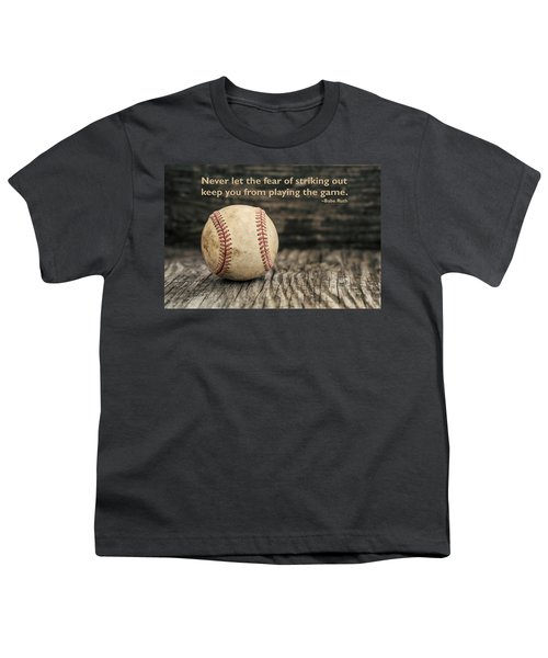 Vintage Baseball Babe Ruth Quote Youth T-Shirt by Terry DeLuco