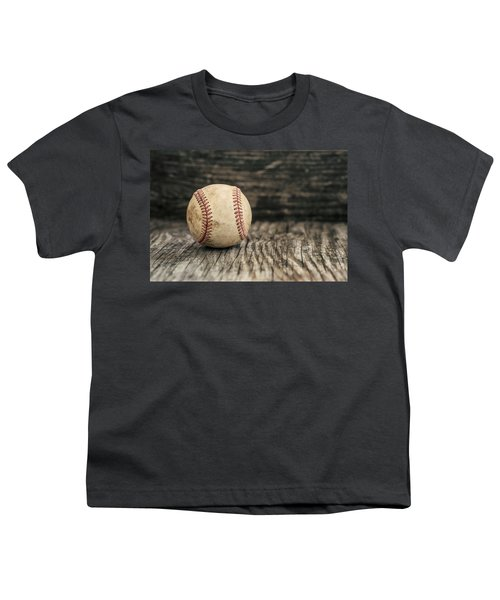 Vintage Baseball Youth T-Shirt by Terry DeLuco
