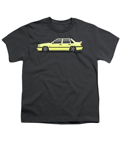 Volvo 850r 854r T5-r Creme Yellow Youth T-Shirt by Monkey Crisis On Mars