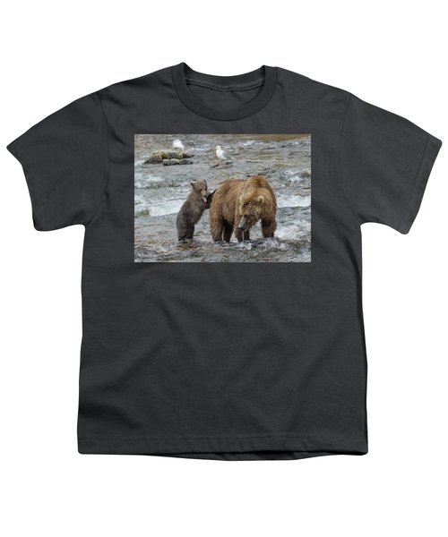 Watching For The Sockeye Salmon Youth T-Shirt