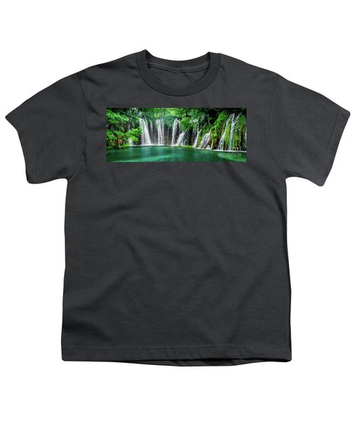 Waterfalls Panorama - Plitvice Lakes National Park Croatia Youth T-Shirt