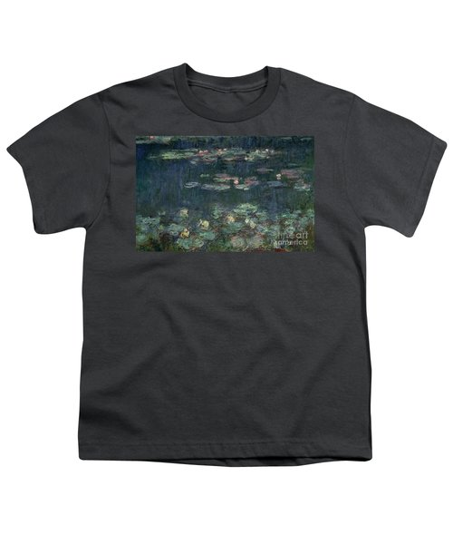 Waterlilies Green Reflections Youth T-Shirt