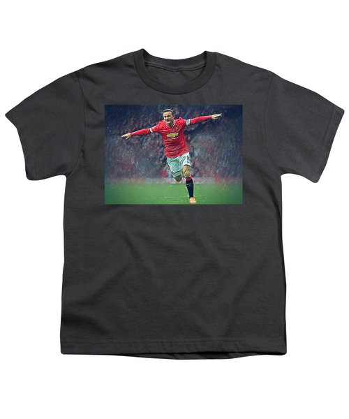 Wayne Rooney Youth T-Shirt by Semih Yurdabak