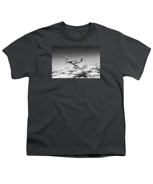 Youth T-Shirt featuring the photograph Westland Whirlwind Portrait Black And White Version by Gary Eason