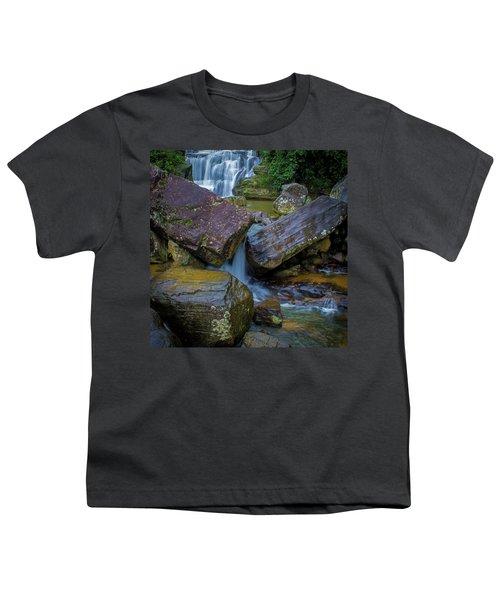 Youth T-Shirt featuring the photograph Wet Rocks 3, Sri Lanka, 2012 by Hitendra SINKAR