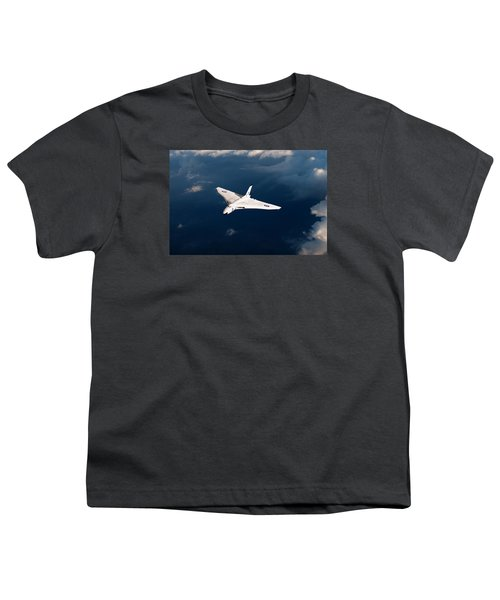 Youth T-Shirt featuring the digital art White Vulcan B1 At Altitude by Gary Eason