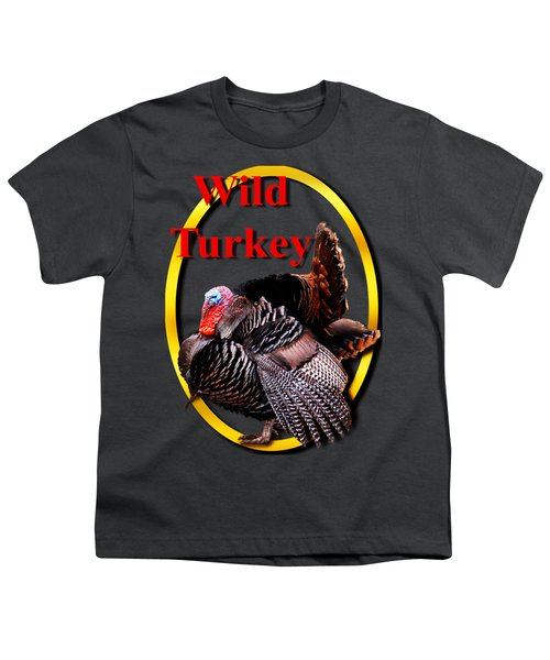 Wild Turkey Youth T-Shirt by John Furlotte
