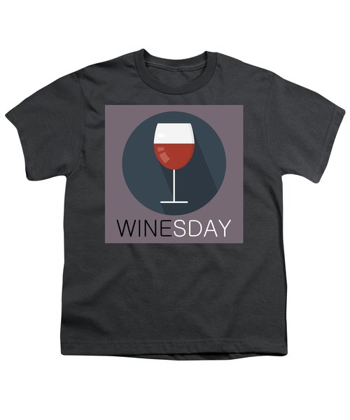 Wine Poster Print - It's Winesday Youth T-Shirt