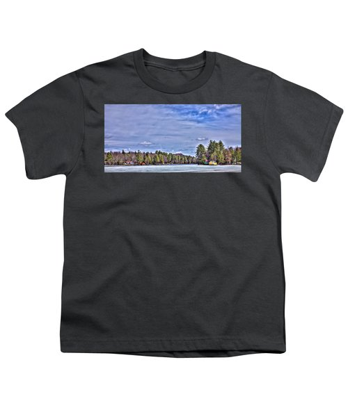 Youth T-Shirt featuring the photograph Winter On The Pond by David Patterson