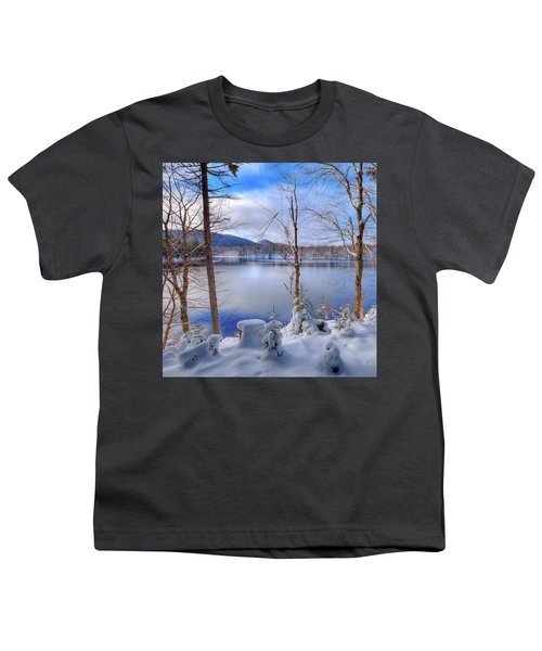 Winter On West Lake Youth T-Shirt by David Patterson