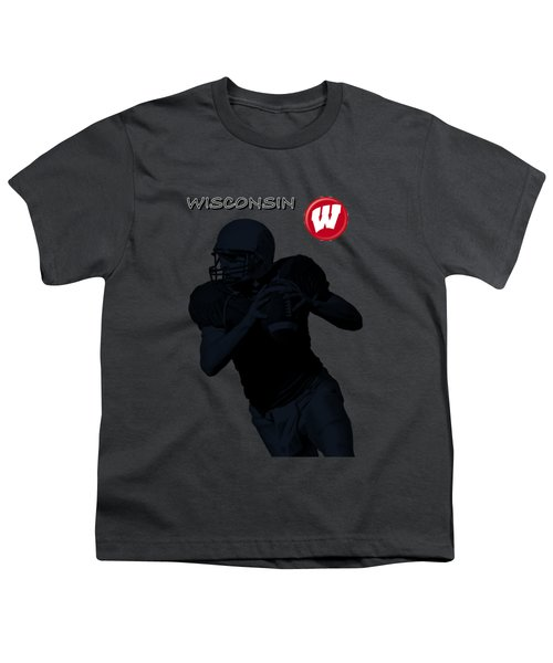 Wisconsin Football Youth T-Shirt by David Dehner