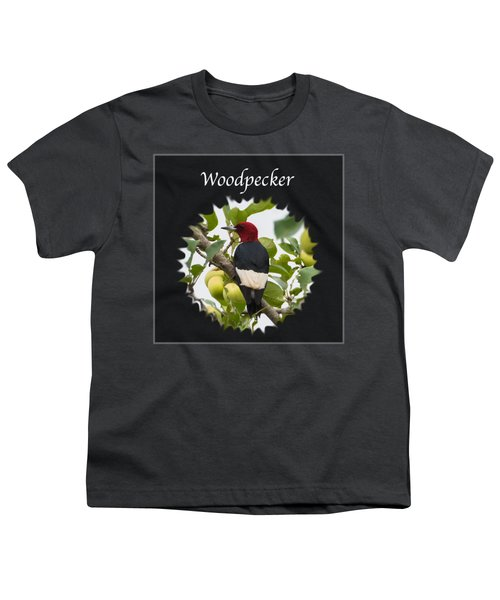 Woodpecker Youth T-Shirt by Jan M Holden