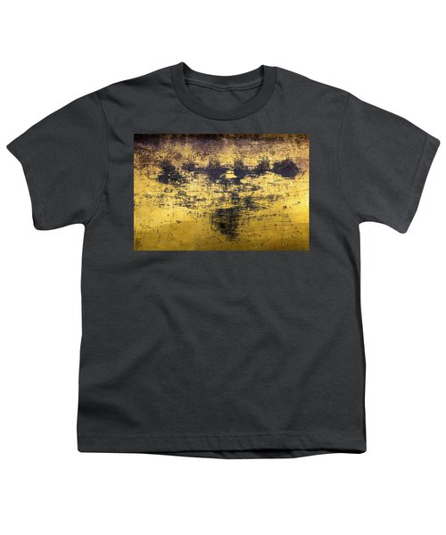 Youth T-Shirt featuring the photograph Writing On Metal, Beijing, 2016 by Hitendra SINKAR