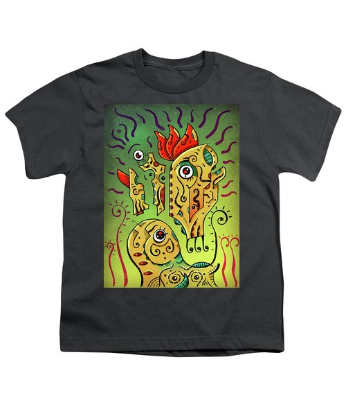 Youth T-Shirt featuring the digital art Ancient Spirit by Sotuland Art