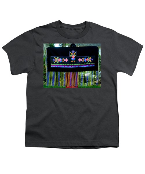 Youth T-Shirt featuring the tapestry - textile Grand Mothers Garden by Chholing Taha