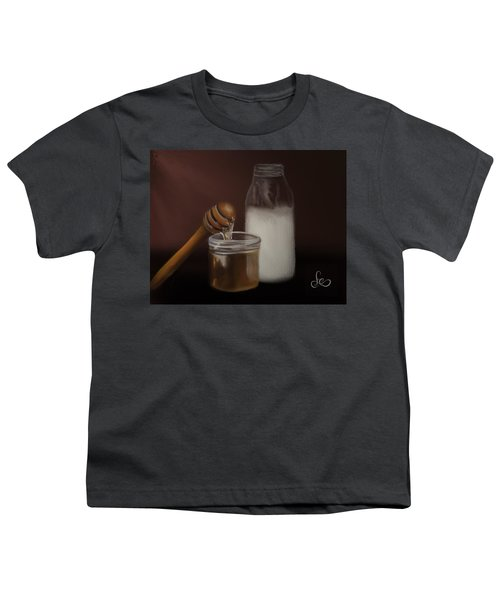 Youth T-Shirt featuring the painting Milk And Honey  by Fe Jones