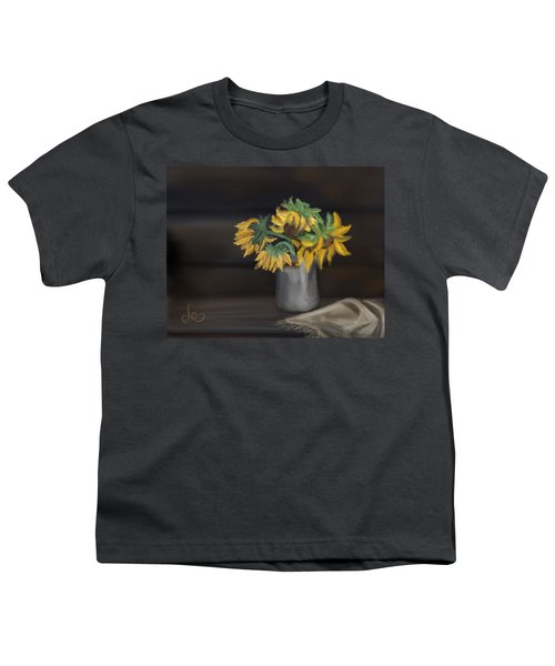 Youth T-Shirt featuring the painting The Sun Flowers  by Fe Jones
