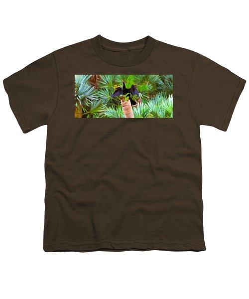 Anhinga Anhinga Anhinga On A Tree Youth T-Shirt