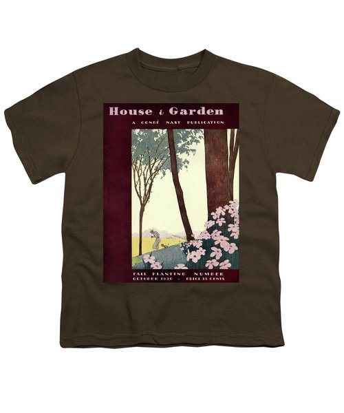A House And Garden Cover Of A Rural Scene Youth T-Shirt