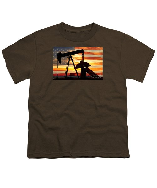 American Oil  Youth T-Shirt by James BO  Insogna
