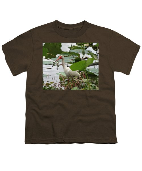 American White Ibis In Brazos Bend Youth T-Shirt