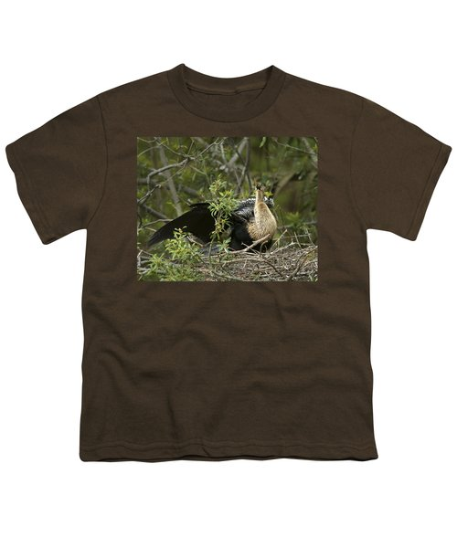 Anhinga Mama Youth T-Shirt by Phill Doherty
