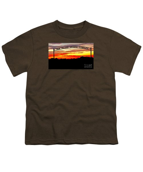 Beautiful Sunset And Emmett Sport Comples Youth T-Shirt by Robert Bales