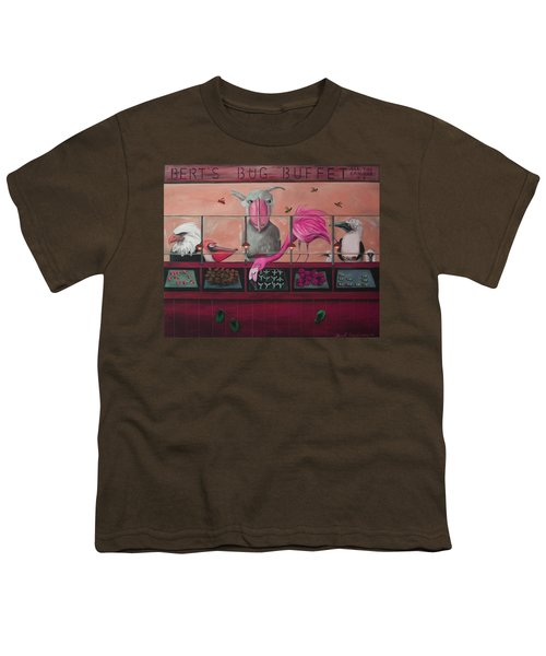 Bert's Bug Buffet Edit 2 Youth T-Shirt by Leah Saulnier The Painting Maniac