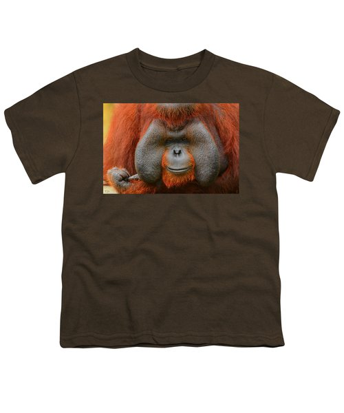Bornean Orangutan Youth T-Shirt by Lourry Legarde