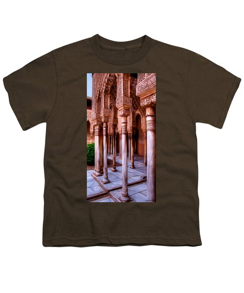 Columns Of The Court Of The Lions - Painting Youth T-Shirt