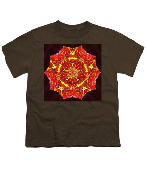 Cosmic Masculine Firestar Youth T-Shirt by Derek Gedney