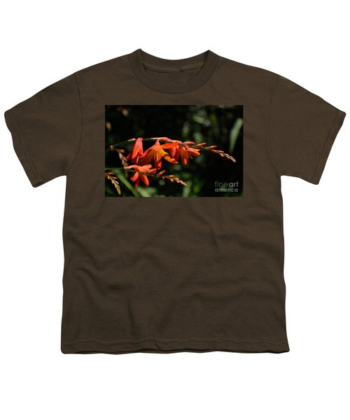 Crocosmia 'dusky Maiden' Flowers Youth T-Shirt