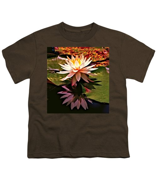 Cypress Garden Water Lily Youth T-Shirt by Bill Barber