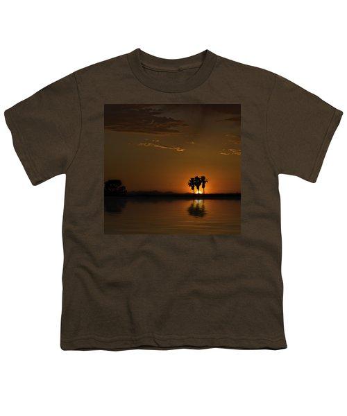 Desert Sunset Youth T-Shirt by Lynn Geoffroy