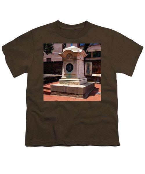 Edgar Allan Poe Tomb Youth T-Shirt